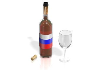 BOTTLE  OF WINE RUSSIA