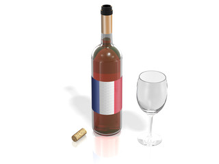 BOTTLE  OF WINE FRANCE