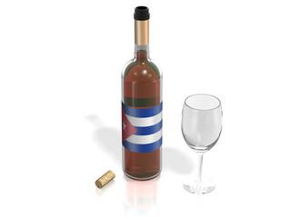 BOTTLE  OF WINE CUBA
