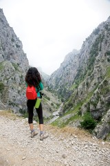 woman back at Gorge of River Cares