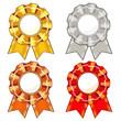 Four rosettes