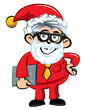 Cartoon Santa office worker