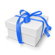 gift box with bow vector illustration isolated on white