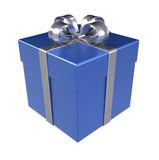 Fototapety Gift Box. Blue Gift Box, Isolated.