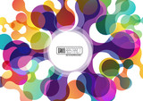Abstract background with circles # Vector