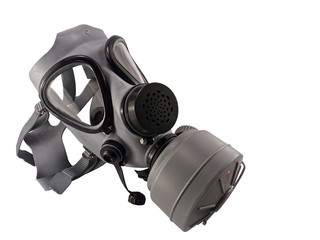 Isolated Old Style Gas Mask