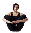 woman sit - doing yoga asana