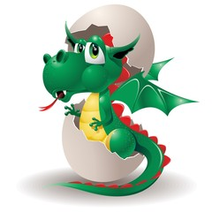Drago Cucciolo Uovo-Baby Dragon Cartoon on Egg-2012