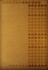 Textured brown paper - rows of coffee beans
