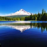 Fototapeta uroda - niebieski - Szczyty górskie