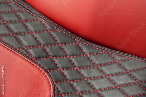siege cuir rouge