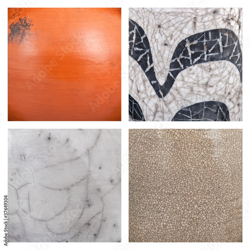 Collection of ceramic background or texture