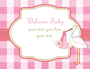 Baby girl arrival announcement
