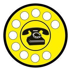 Cartello telefono vintage