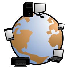 Icono tecnología global