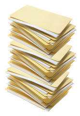 Stack of Manila File Folders