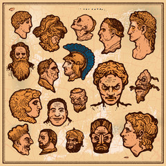 antique heads