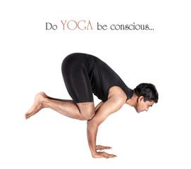 Yoga bakasana crane pose