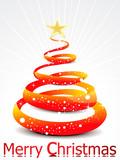 abstract orange christmas tree  background
