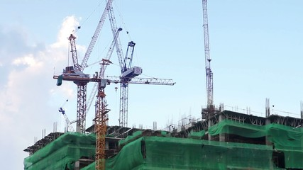 construction with crane