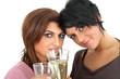 zusammen Sekt trinken
