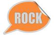 SP-Sticker orange ROCK