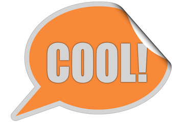 SP-Sticker orange curl oben COOL!