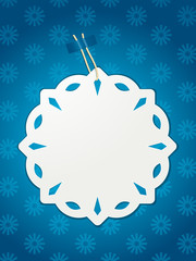 paper snowflake Christmas label