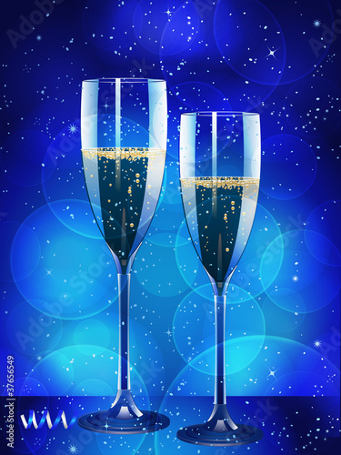 champagne and glowing background