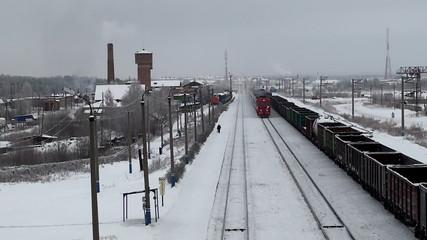 arriving passenger train