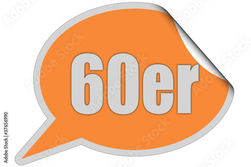 SP-STicker orange curl oben 60ER