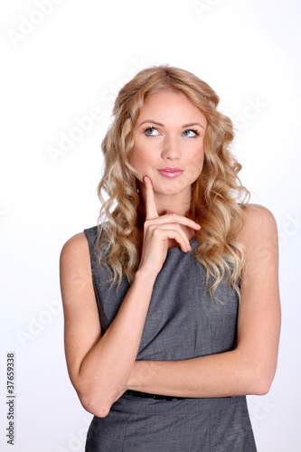 Businesswoman with interrogative look