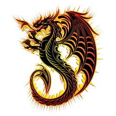 Drago Fuoco Simbolo-Fire Dragon Symbol-2012