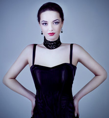 Fashion photo of young  woman