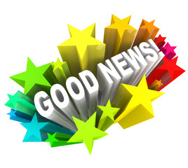 Good News Announcement Message Words in Stars