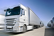 Modern  Truck on road added motion blur