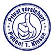 privat versichert pkv patient 1. Klasse