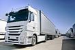 Modern  Truck on road