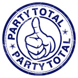 party total stempel button