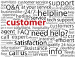 """CUSTOMER"" Tag Cloud (satisfaction service consumer client care)"