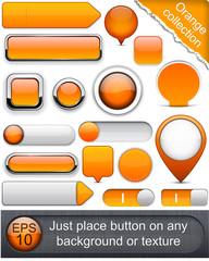 Orange high-detailed modern buttons.