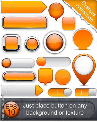Orange high-detailed modern buttons.