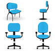 Set of office chair illustrations