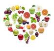 Früchte in Herzform