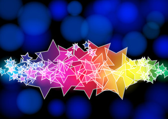 Modern abstract starry background