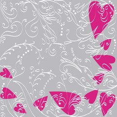 Beautiful floral romantic background