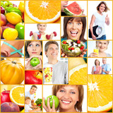 Healthy lifestyle people collage.
