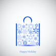 Creative snowflakes bag for your design.
