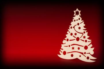albero di natale su sfondo rosso e nero