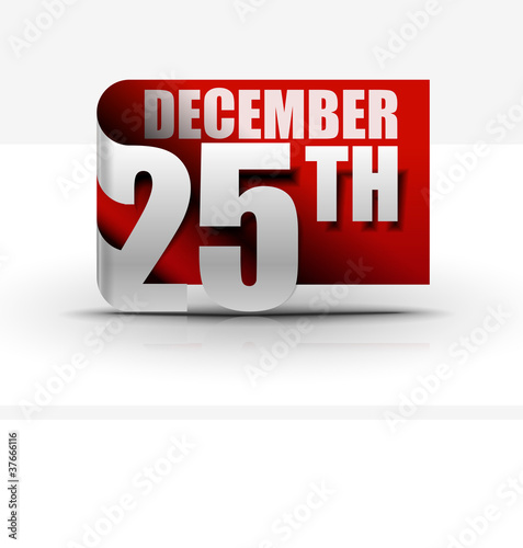 25 december sticker design